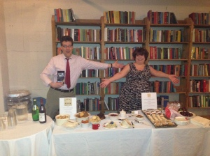 Kevin and Roberta Presenting the Kevin's Amazing Book and the Yummy Food from Savior Fork